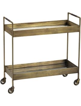 libations-antique-brass-bar-cart by crate&barrel