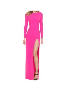 lalama-womenss-celebrity-long-sleeve-bodycon-party-pencil-slit-maxi-dress-l by lalama