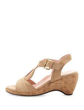 marianna-suede-wedge-sandal,-nocciola by taryn-rose