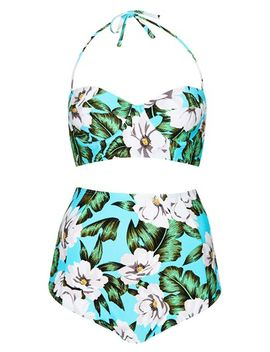 aloha-print-longline-swimsuit by topshop