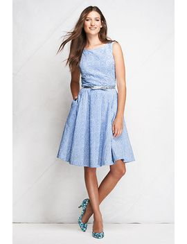 womens-petite-woven-eyelet-open-back-dress by lands-end