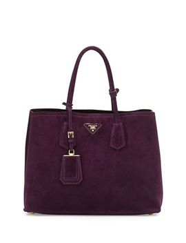 suede-double-bag,-dark-purple-(prugna) by prada