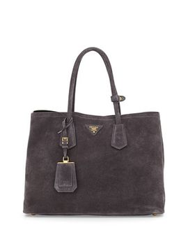suede-double-bag,-charcoal-(ematite) by prada