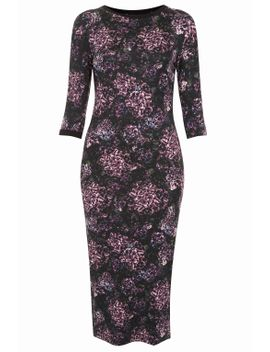 romantic-floral-bodycon-dress by topshop