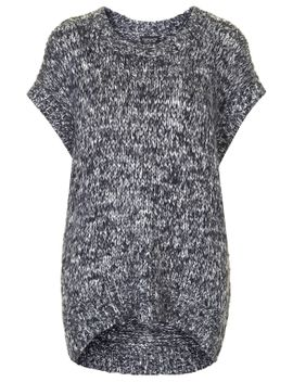 salt-and-pepper-woven-tabard-top by topshop