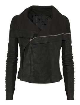 blister-washed-leather-biker-jacket by rick-owens