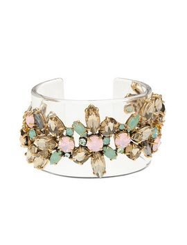 lucite-stacked-stone-cuff by jcrew