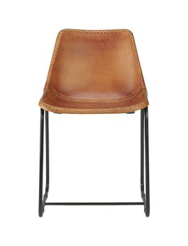 roadhouse-leather-chair by crate&barrel