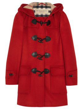 hooded-wool-duffle-coat by burberry