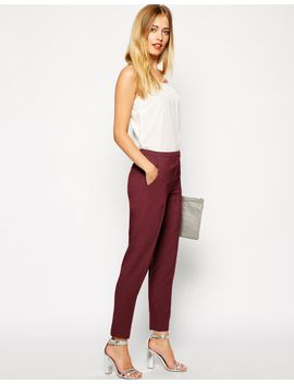 asos-cigarette-pants-in-crepe by asos-collection