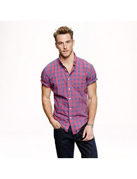 lightweight-short-sleeve-shirt-in-overblown-gingham by jcrew
