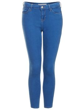 petite-moto-blue-leigh-jeans by topshop
