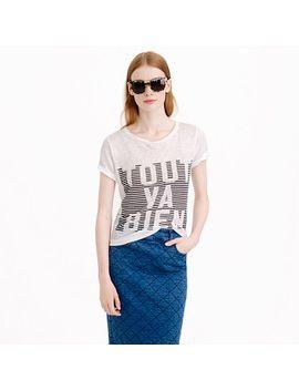 tout-va-bien-linen-t-shirt by jcrew