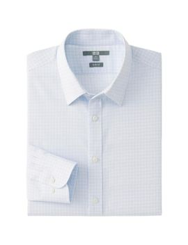 men-easy-care-slim-fit-check-long-sleeve-shirt by uniqlo