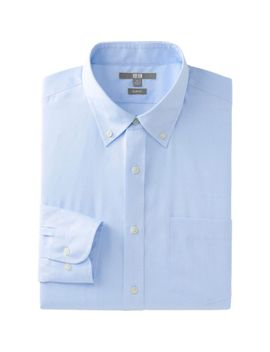 men-easy-care-slim-fit-long-sleeve-shirt by uniqlo