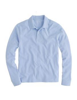 slim-long-sleeve-classic-piqué-polo-shirt by jcrew