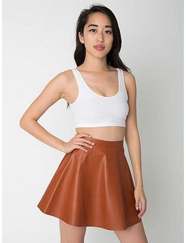 leather-circle-skirt by american-apparel