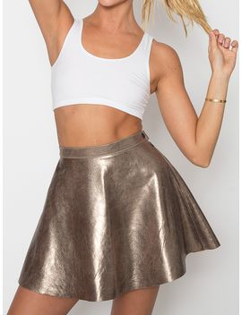 hologram-leather-circle-skirt by american-apparel