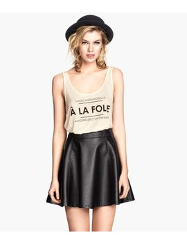 imitation-leather-skirt by h&m