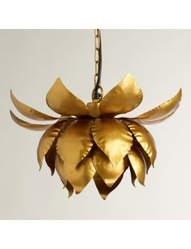 gold-lotus-hanging-pendant-lamp by world-market
