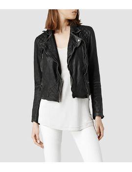 cargo-leather-biker-jacket by allsaints