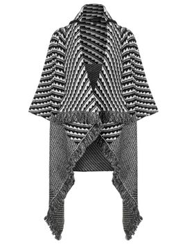 pattern-blanket-coat by topshop