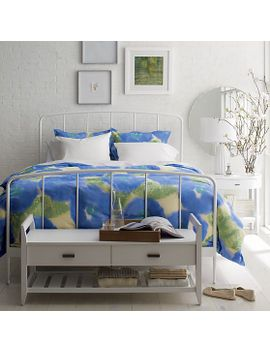 marimekko-kehakukka-blue-full_queen-duvet-cover by crate&barrel