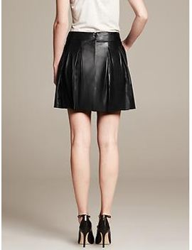 pleated-leather-skirt by banana-repbulic