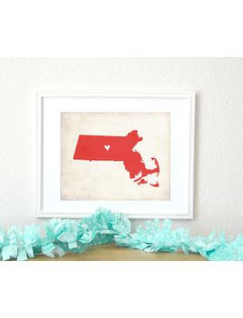massachusetts-rustic-state-map-personalized-massachusetts-map-wedding-gift-housewarming-gift-family-travel-map-art-print-8x10 by turtledeaneprintshop