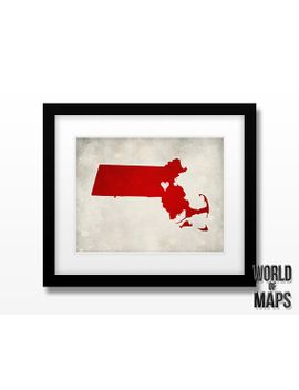 massachusetts-map-print---home-town-love---personalized-art-print-available-in-multiple-sizes by worldofmaps
