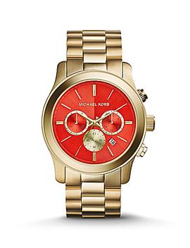 michael-kors-runway-orange-dial-chronograph-watch by generic