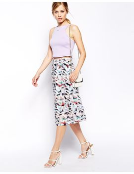 asos-midi-skirt-in-floral-burnout by asos-collection