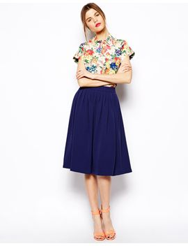 asos-woven-midi-vintage-skirt by asos-collection