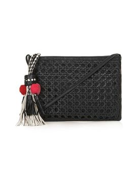 tassel-textured-leather-clutch by topshop