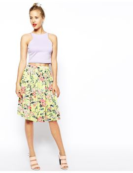 asos-midi-skirt-in-floral-print by asos-collection