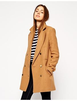 asos-pea-coat-in-double-breast by asos-collection