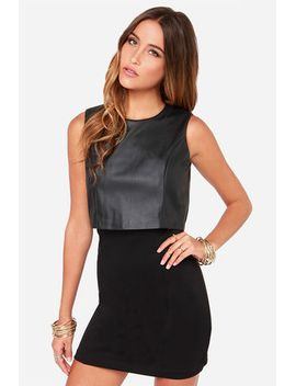vest-of-both-worlds-black-vegan-leather-dress by rd-style