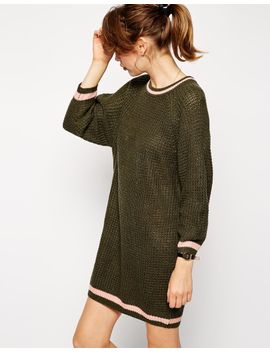 asos-knitted-dress-with-raglan-sleeve-and-tipping by asos-collection
