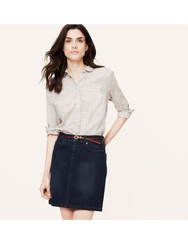 denim-mini-skirt-in-envelope-blue by loft