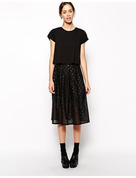 x-even-vintage-spot-organza-skirt by the-laden-showroom