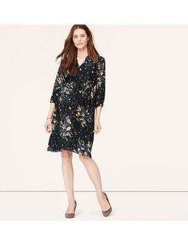 maternity-wild-prairie-print-shirtdress by loft