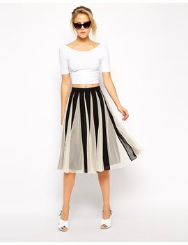 asos-pleated-midi-skirt-with-mesh-inserts by asos-collection