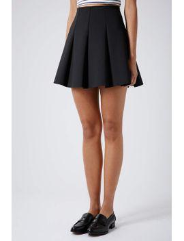 black-scuba-flippy-skirt by topshop