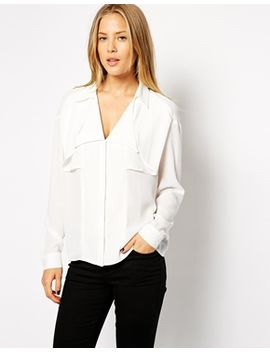 asos-blouse-with-trench-detailing by asos-collection