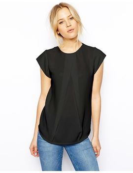asos-top-with-origami-pleat-detail-and-jersey-back by asos-collection