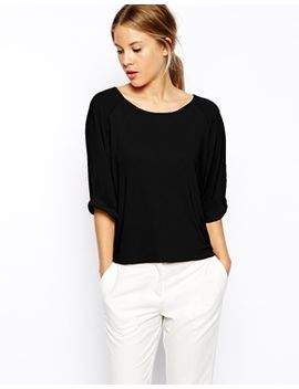 asos-dropped-raglan-luxe-crepe-top by asos-collection