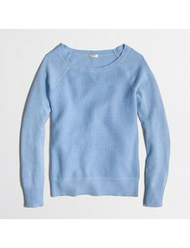 factory-warmspun-waffle-crewneck-sweater by jcrew