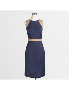 factory-colorblock-seamed-sheath-dress by jcrew