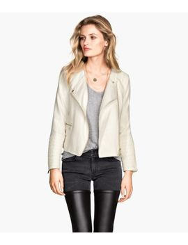 cotton-blend-biker-jacket by h&m