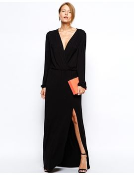 love-plunge-wrap-front-maxi-dress-with-thigh-split by love